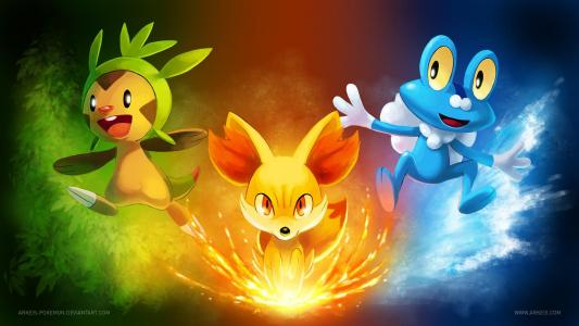 Pokemon X & Y Starters wallpaper